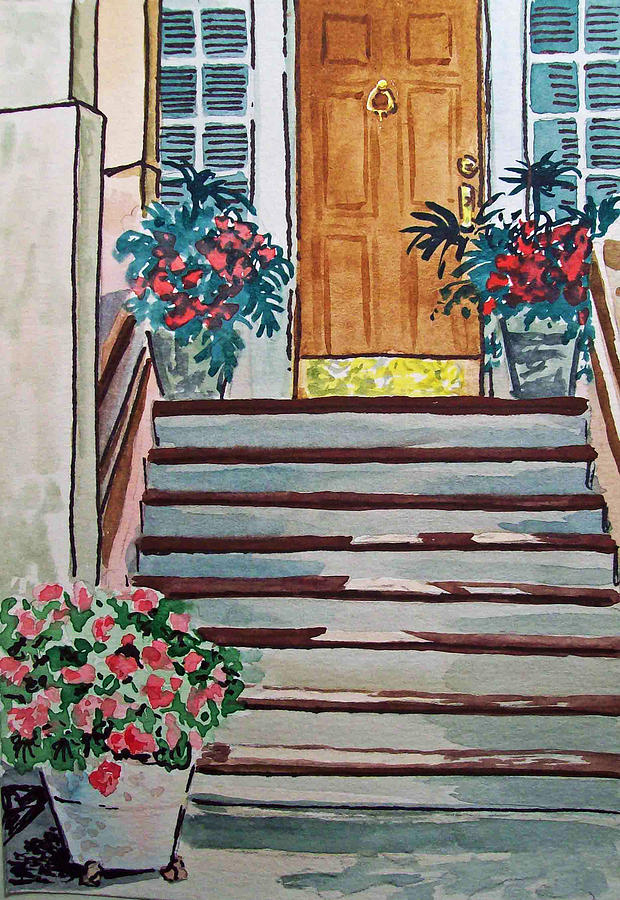 Stairs Painting - Stairs Sketchbook Project Down My Street by Irina Sztukowski