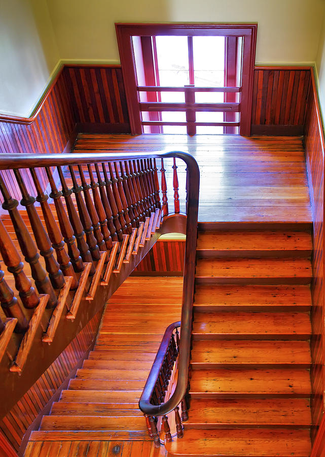 Stairs Photograph - Stairway In Old Naval Hospital by Steven Ainsworth