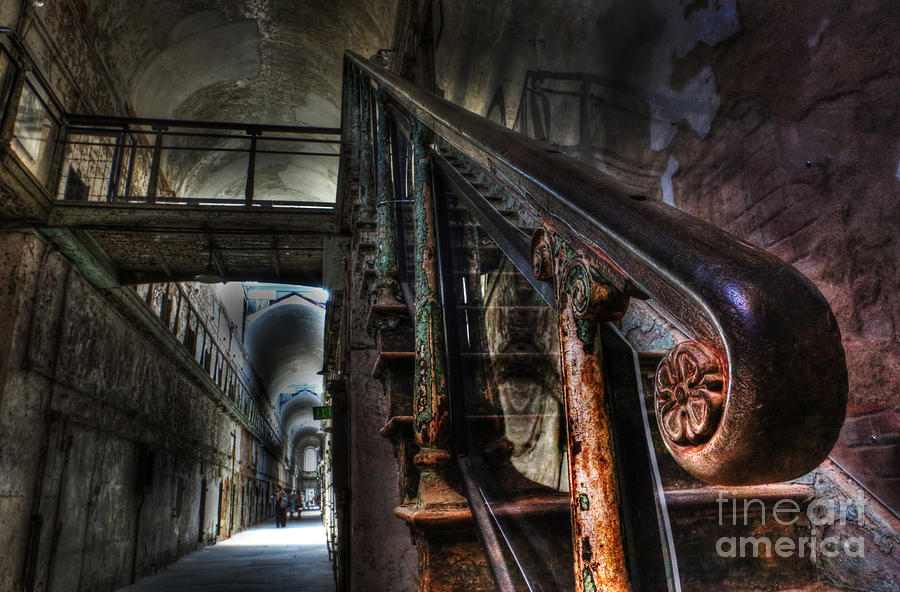 Eastern State Penitentiary Photograph - Stairway Of Terror - Eastern State Penitentiary by Lee Dos Santos