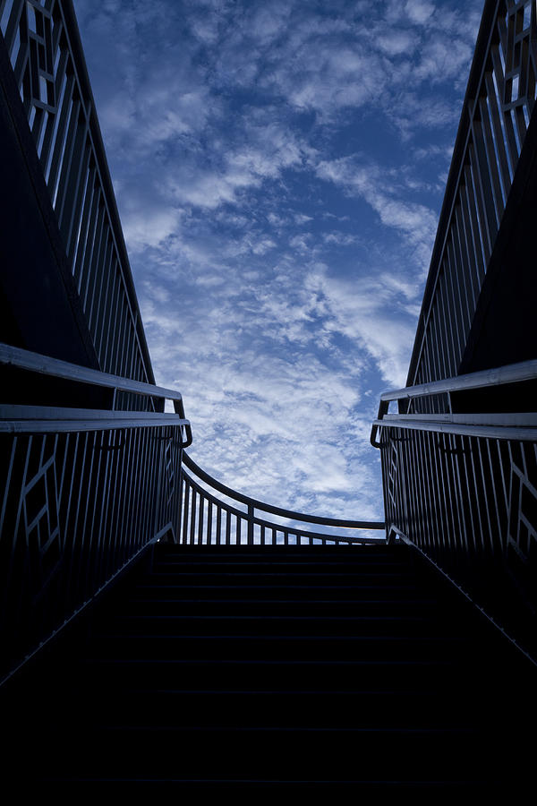 Blue Sky Photograph - Stairway To Heaven by Joel Witmeyer