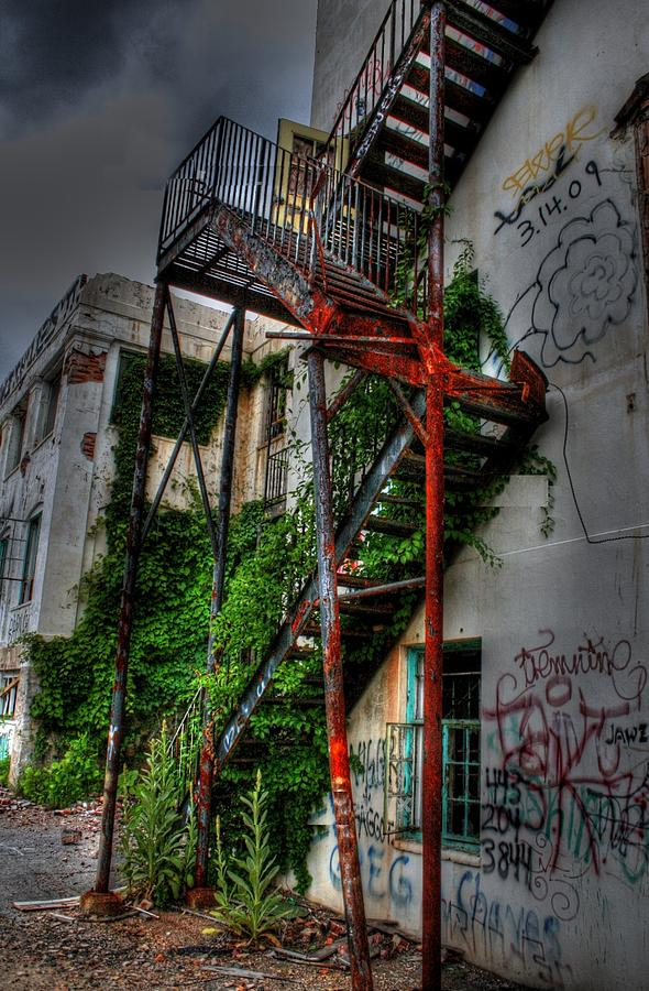 Henryton Photograph - Stairway To Insanity by Heather  Boyd