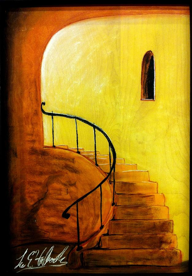 Wood Mixed Media - Stairwell by Lee Halbrook