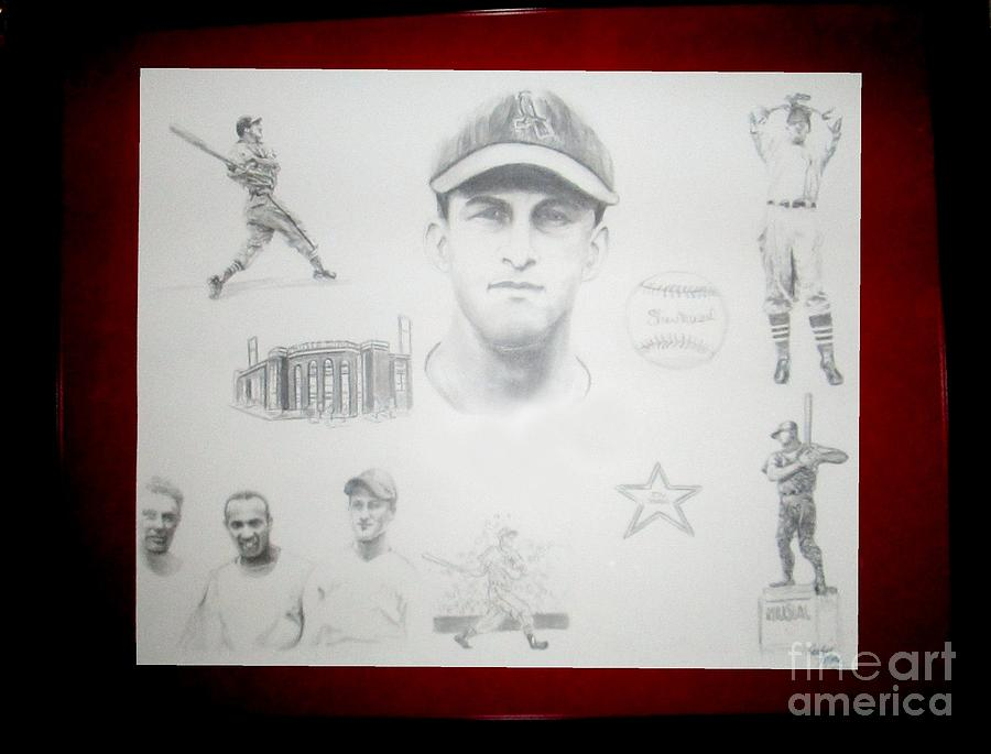 Stan Musial - Stan The Man Drawing by Carliss Mora