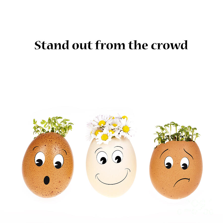 Background Photograph - Stand Out From The Crowd by Jane Rix