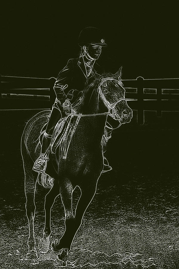 Horse Photograph - Stand Out Glowing Duo by Karol Livote