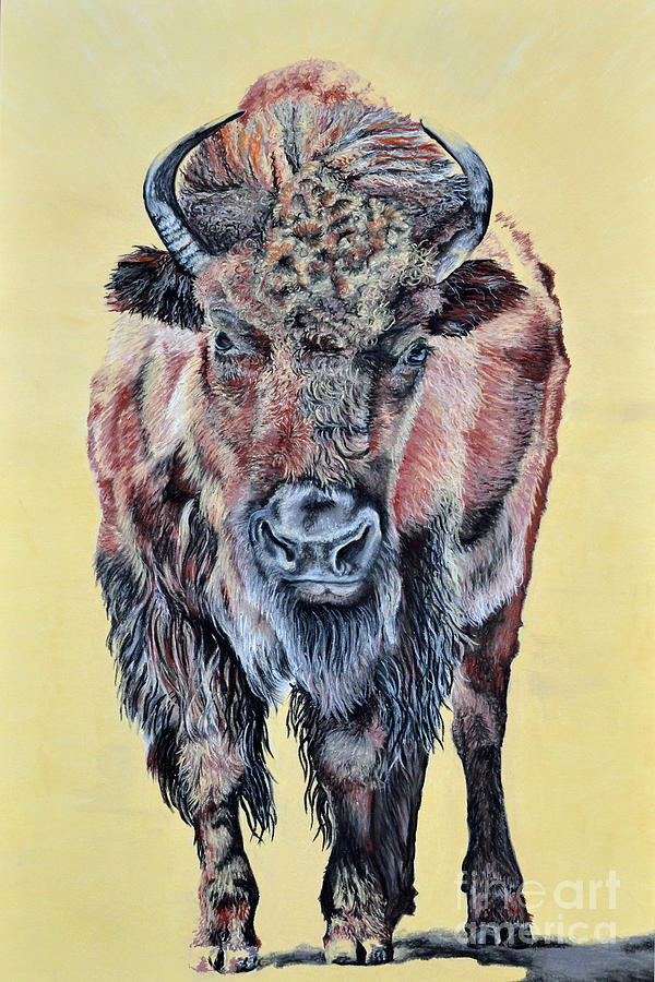 Buffalo Pastel - Stand Strong by Ann Marie Chaffin