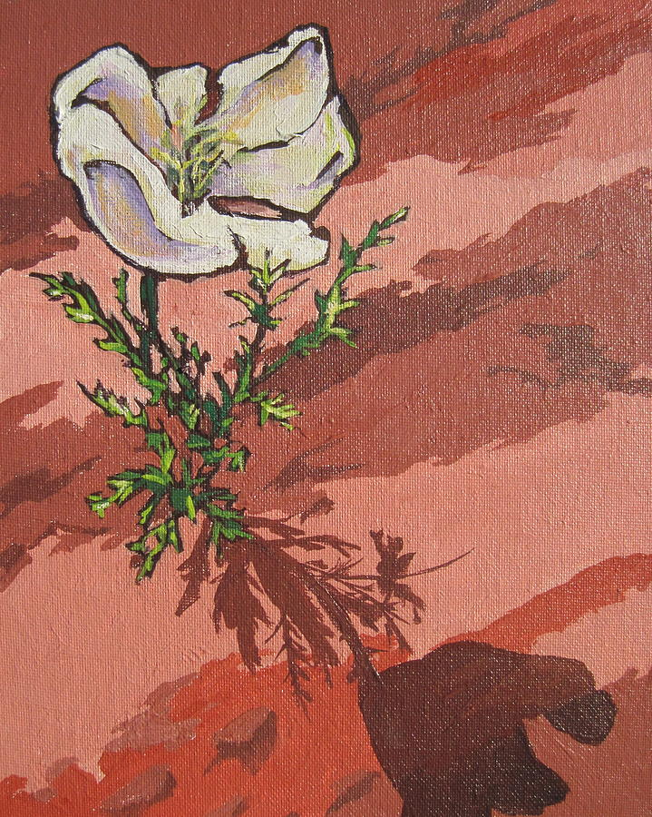 Plant Painting - Standing Alone by Sandy Tracey