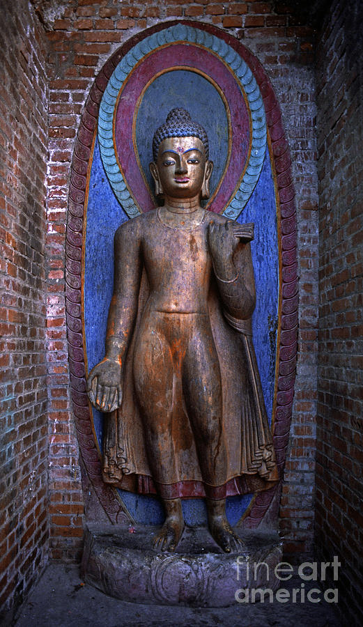 Craig Lovell Photograph - Standing Buddha - Nepal by Craig Lovell
