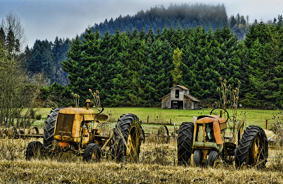 Tractors Photograph - Standing By by Dale Stillman