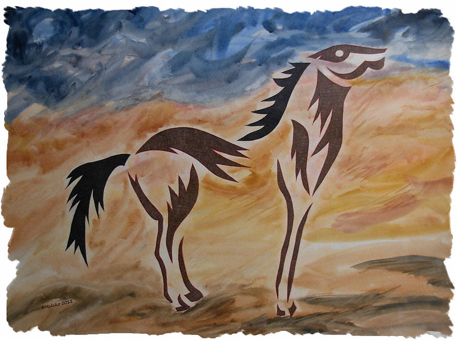 Horse Painting - Standing Firm by Mark Schutter