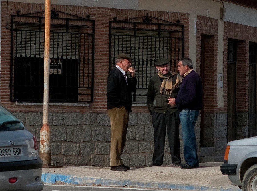 Toledo Photograph - Standing On The Corner by Lorraine Devon Wilke