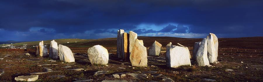 Architectural Heritage Photograph - Standing Stones, Blacksod Point, Co by The Irish Image Collection