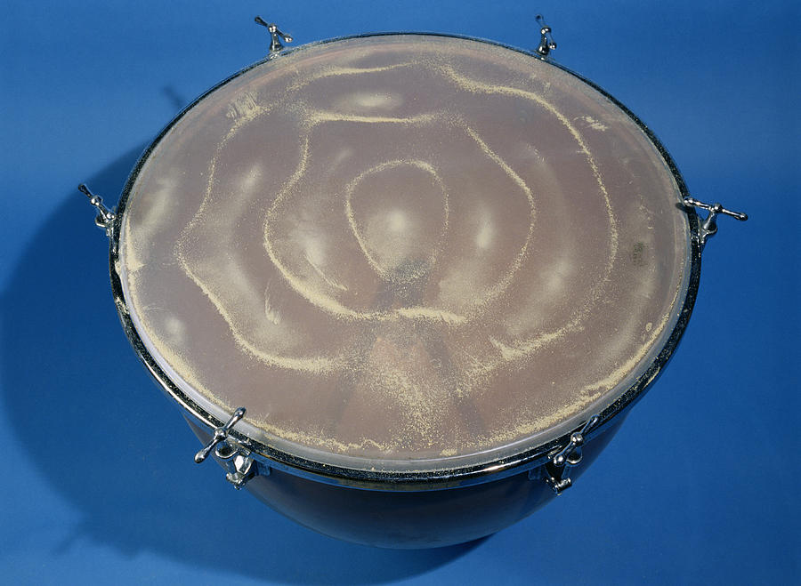Drum Photograph - Standing Waves Pattern by Andrew Lambert Photography