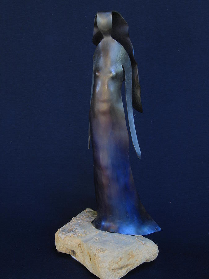 Female Figure Sculpture - Standing Woman by Todd Malenke