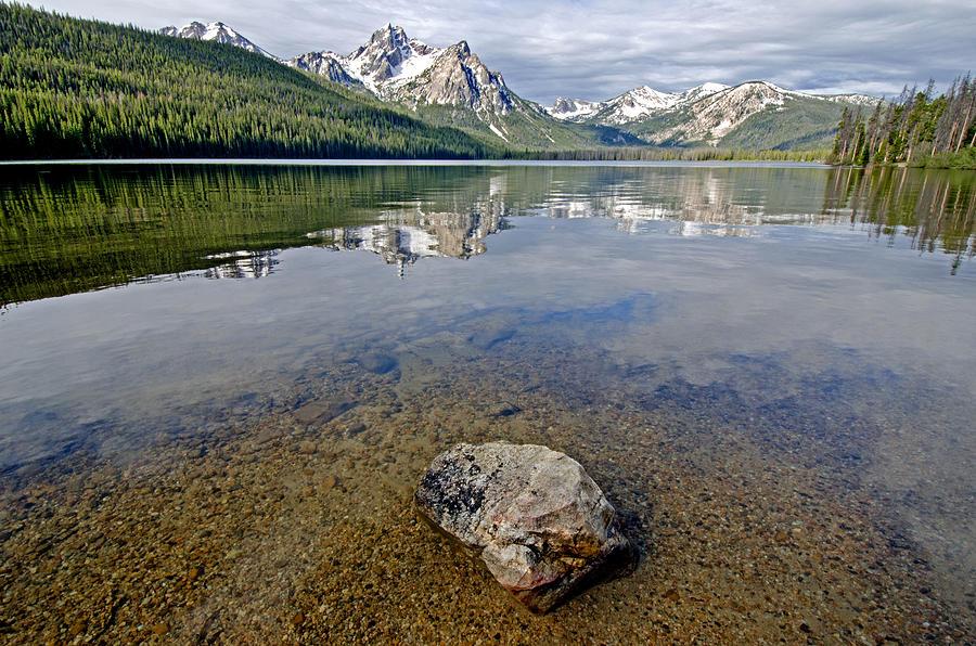 Sawtooths Photograph - Stanley Lake by Elijah Weber