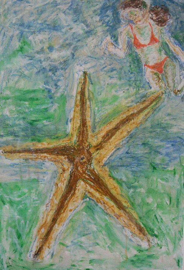 Star Mixed Media - Star by Iris Gill