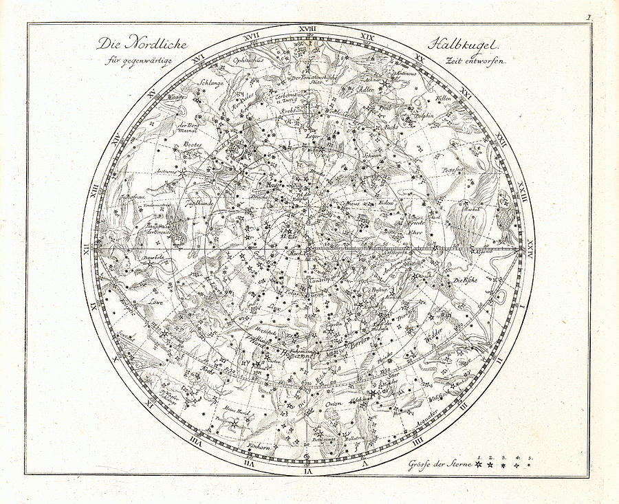 Celestial Map Photograph - Star Map, 1805 by Detlev Van Ravenswaay