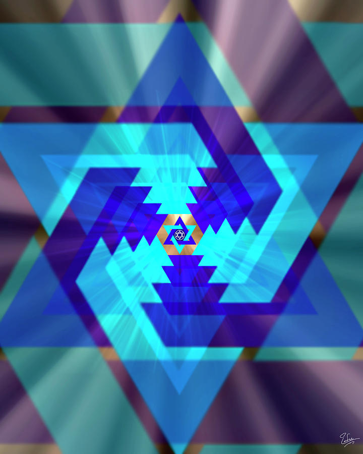 Endre Photograph - Star Of David 1 by Endre Balogh