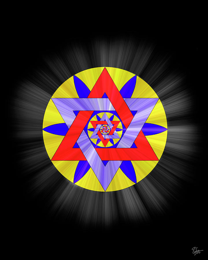 Endre Photograph - Star Of David Two by Endre Balogh