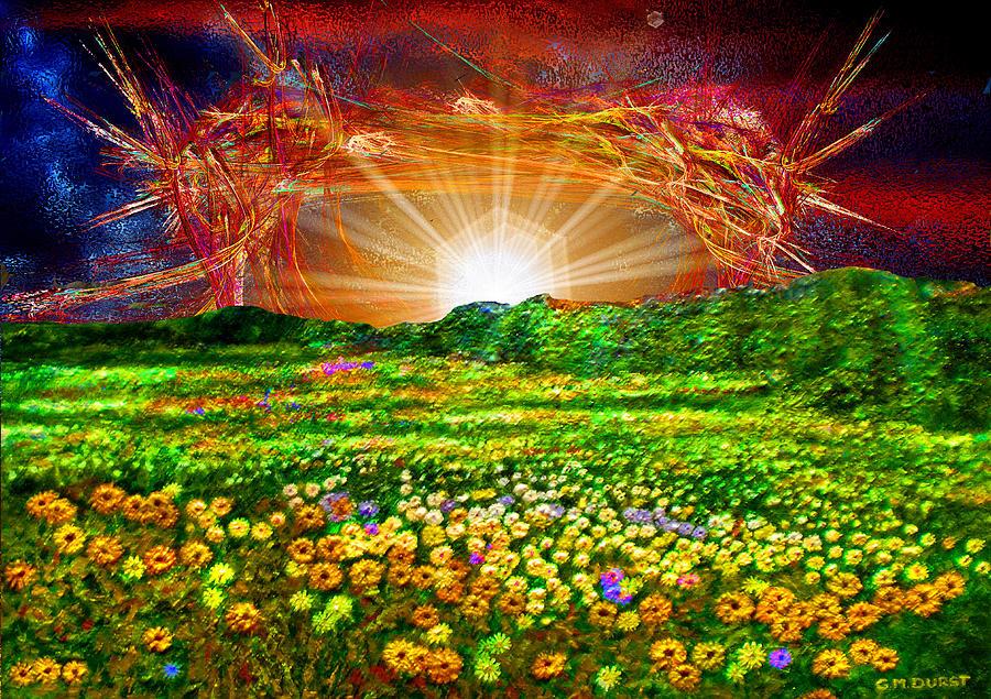 Digital Digital Art - Star Set by Michael Durst