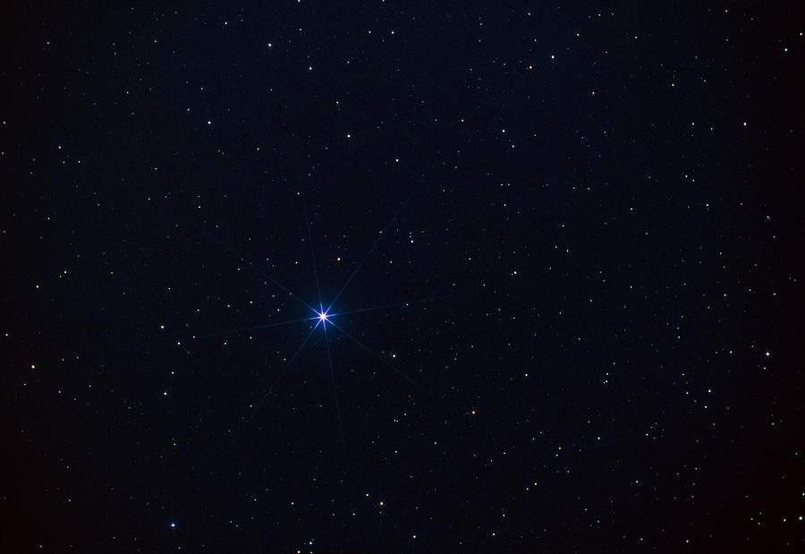 Star Spica In The Virgo Constellation Photograph by John ...