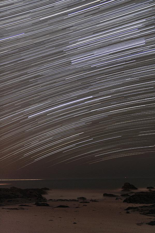 Star Photograph - Star Trails by Laurent Laveder