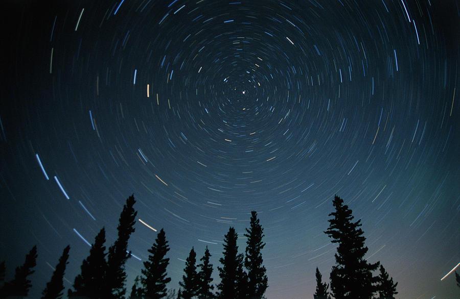 Color Images Photograph - Star Trails, Sandilands Provincial by Mike Grandmailson