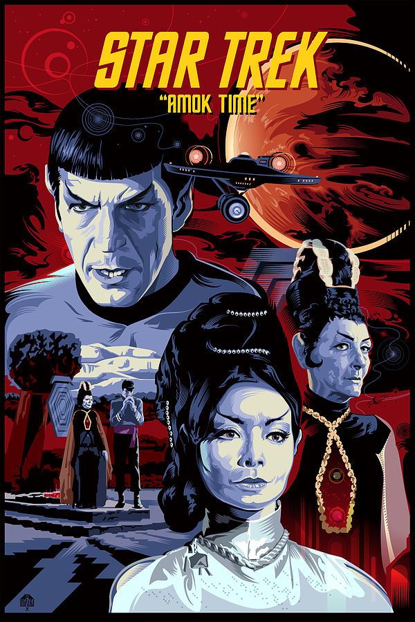 Star Trek Amok Time Painting By Garth Glazier