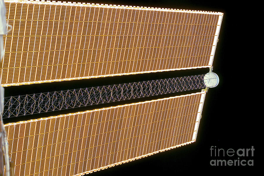 Color Image Photograph - Starboard Solar Array Wing Panel by Stocktrek Images