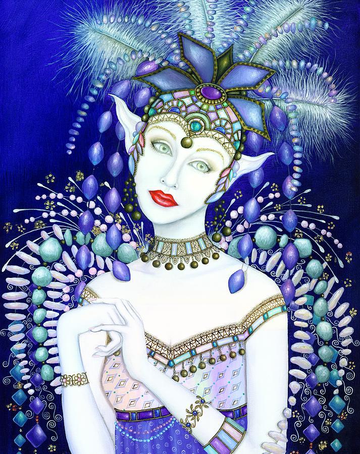 Fairy Painting - Starlight Fairy by B K Lusk