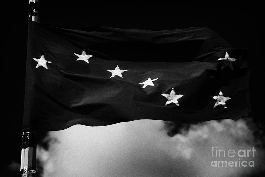 Irish Photograph - Starry Plough Flag Irish National Liberation Army Inla Ireland by Joe Fox