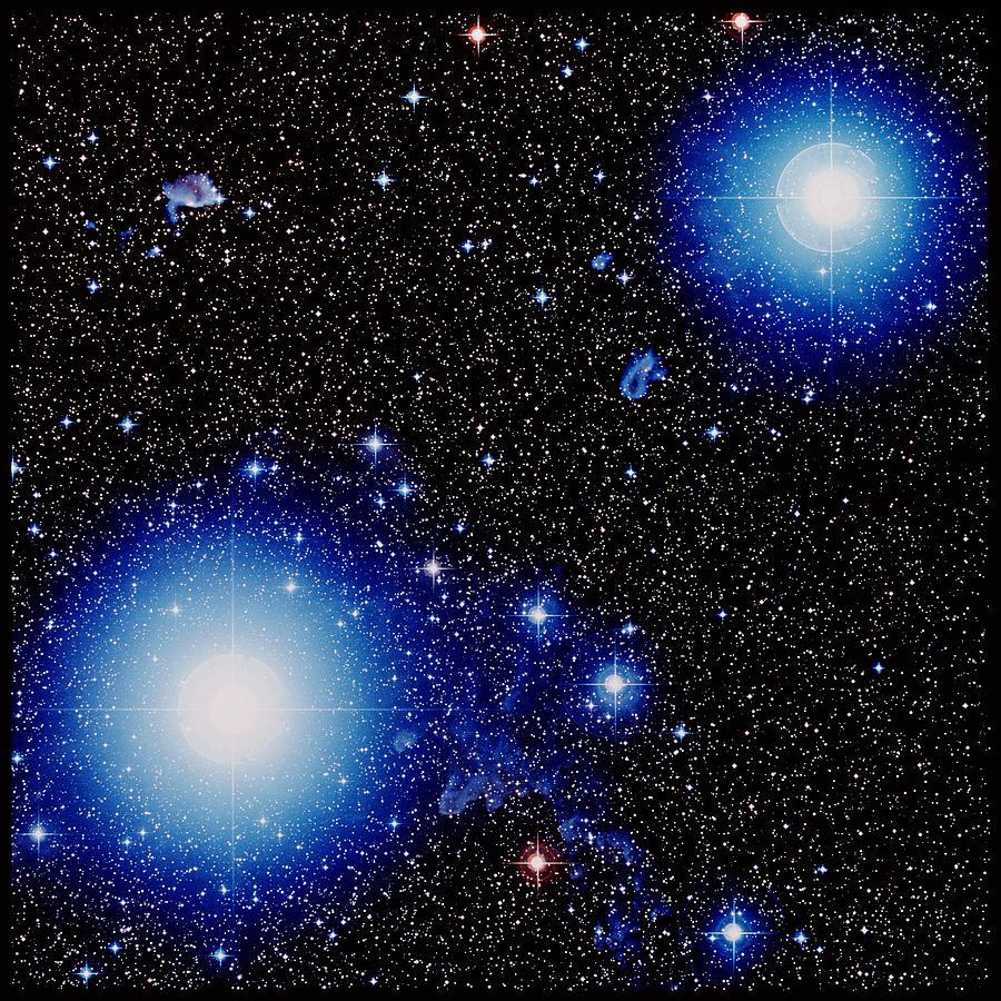 Stars Alnilam Amp Mintaka In Orion Photograph By Celestial