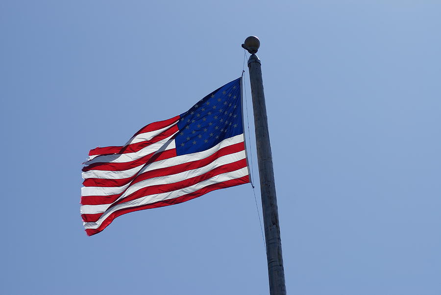 American Flag Photograph - Stars And Stripes by Jerry Cahill