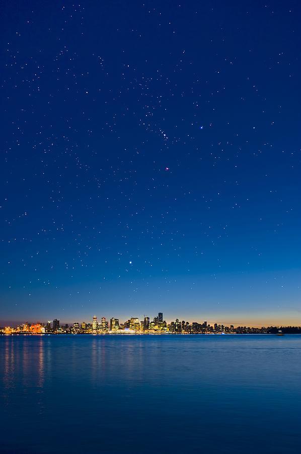 Vancouver Photograph - Stars Over Vancouver, Canada by David Nunuk