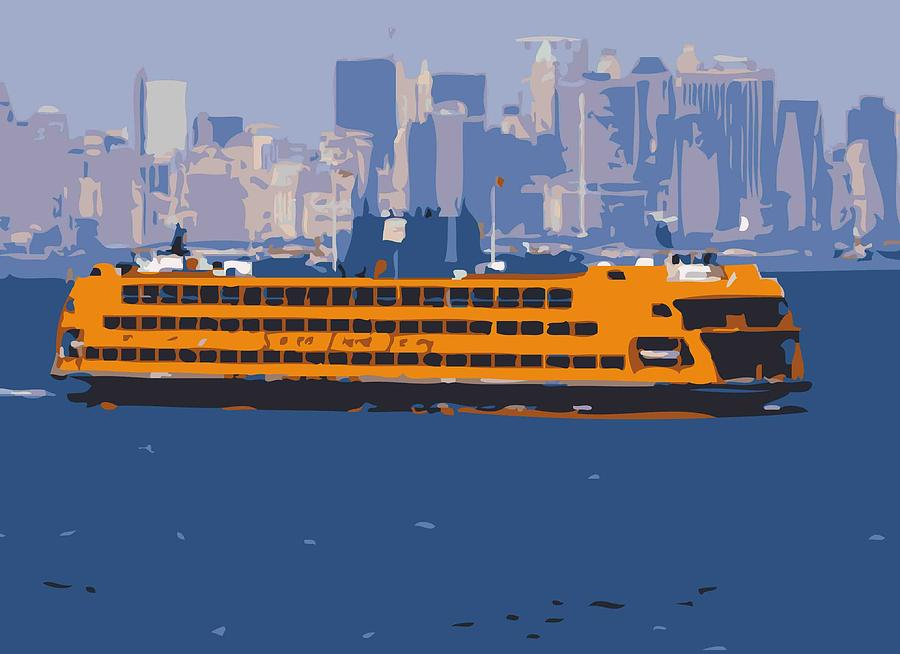 New York City Fire Escapes Photograph - Staten Island Ferry Color 16 by Scott Kelley