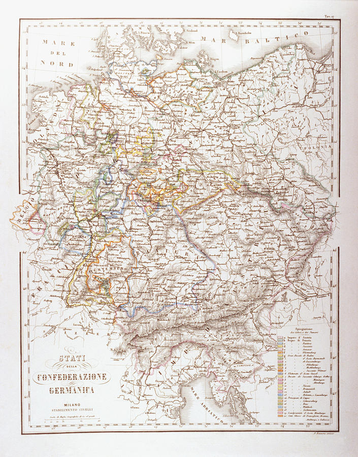 Vertical Digital Art - States Of The German Confederation by Fototeca Storica Nazionale