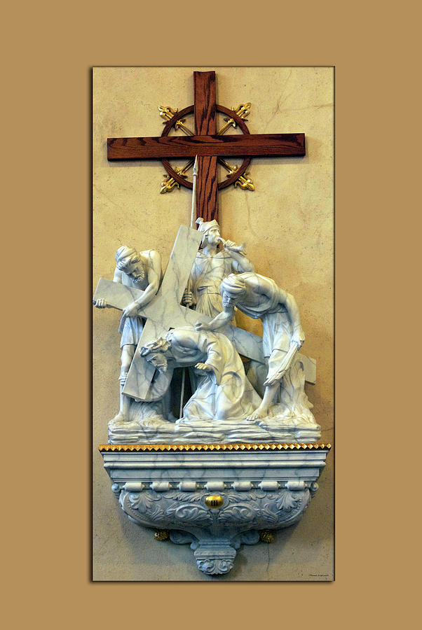 Statue Photograph - Station Of The Cross 03 by Thomas Woolworth