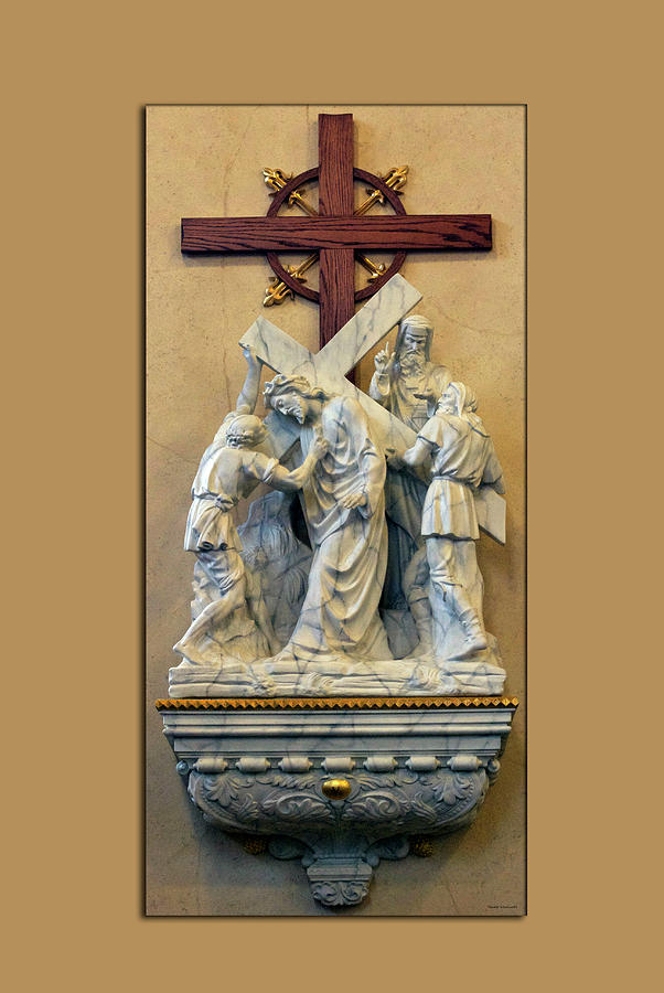 Statue Photograph - Station Of The Cross 05 by Thomas Woolworth