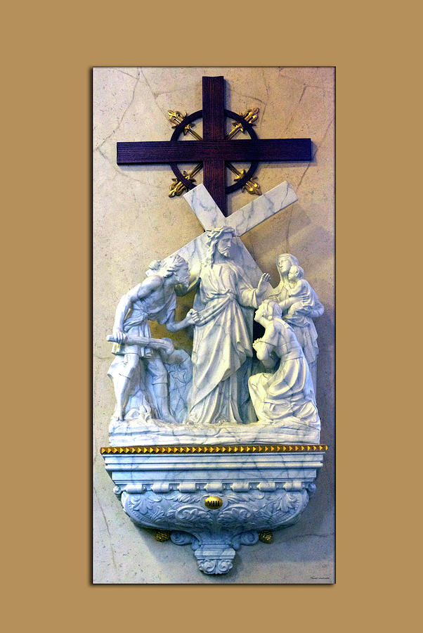 Statue Photograph - Station Of The Cross 08 by Thomas Woolworth