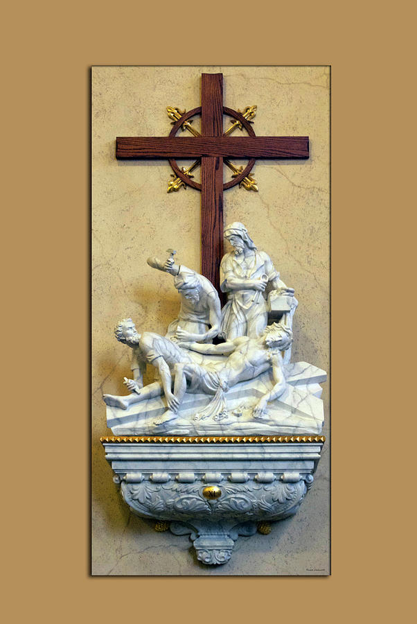 Statue Photograph - Station Of The Cross 11 by Thomas Woolworth