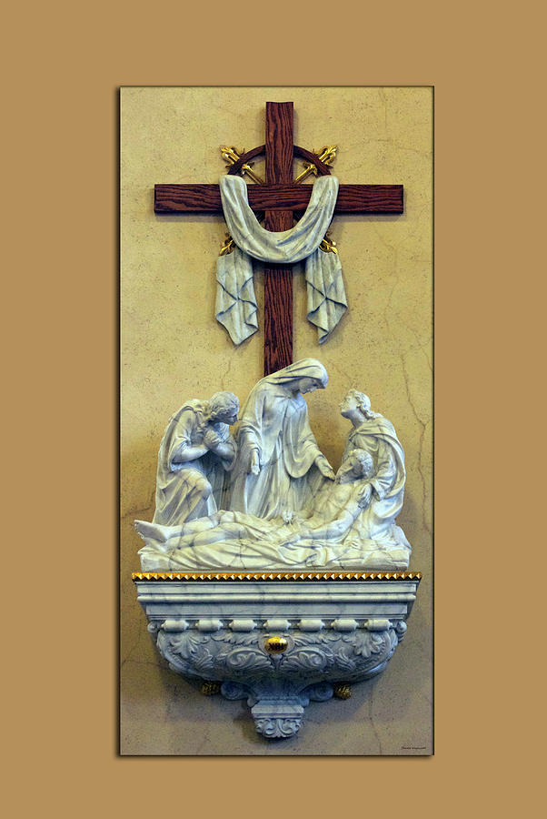 Statue Photograph - Station Of The Cross 13 by Thomas Woolworth