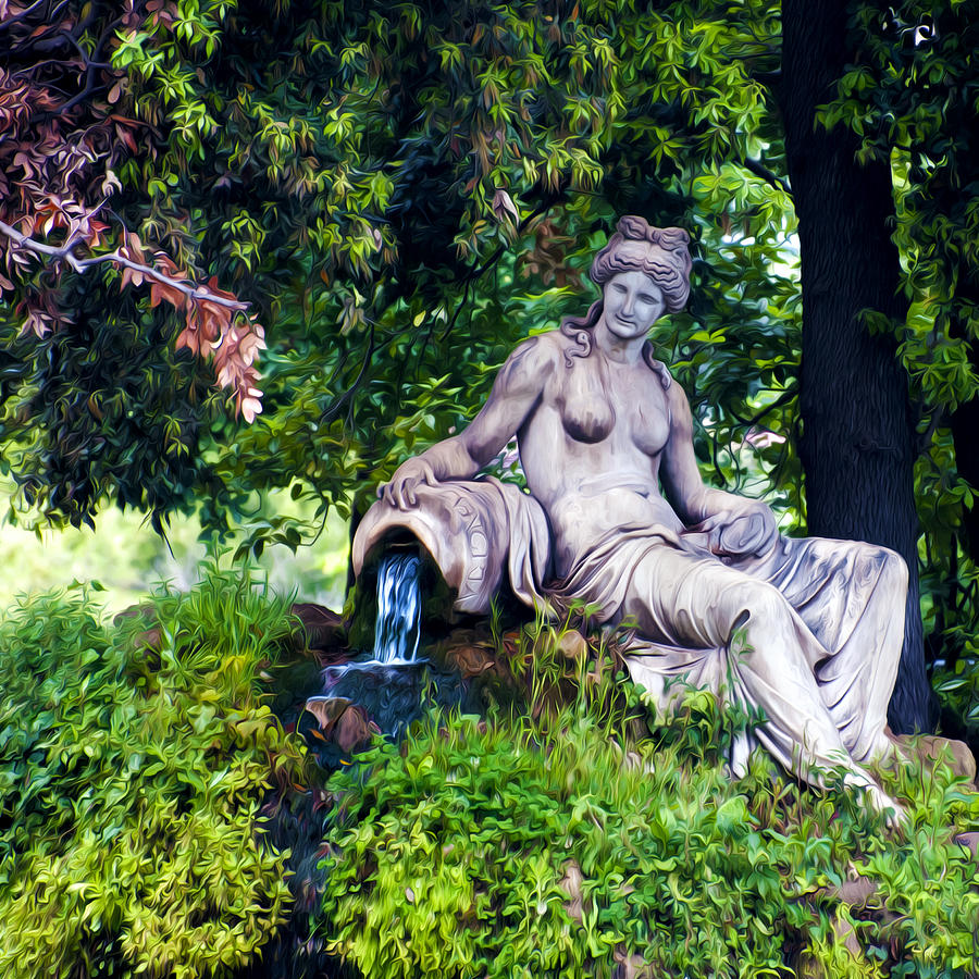 Statue Photograph - Statue In The Woods by Fabrizio Troiani