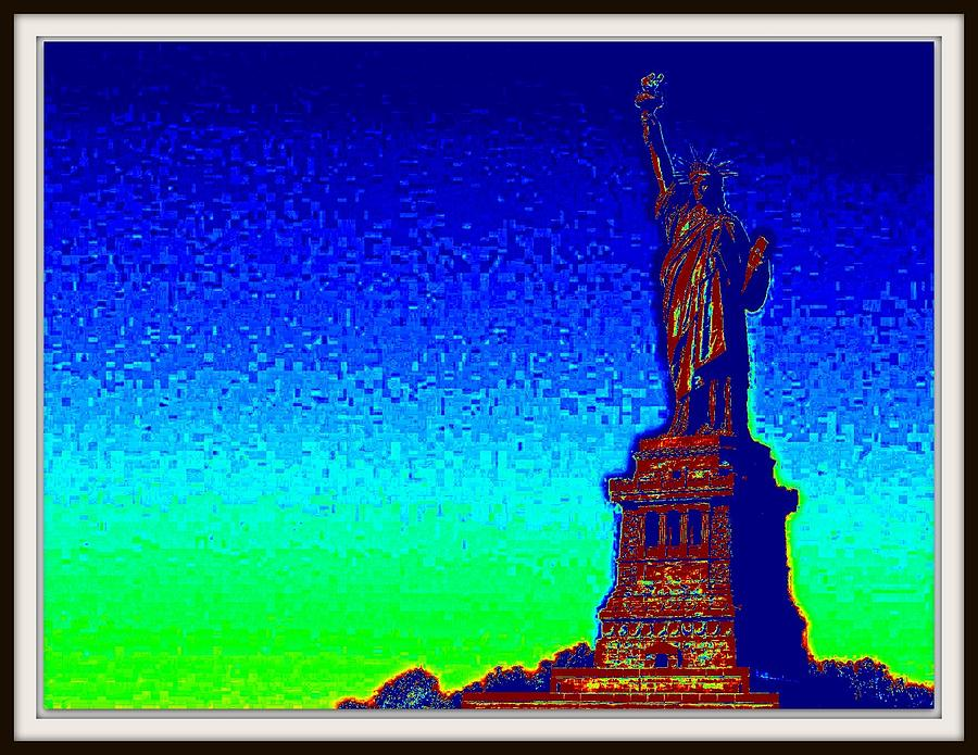 Butter Fly Photograph - Statue Of Liberty-3 by Anand Swaroop Manchiraju