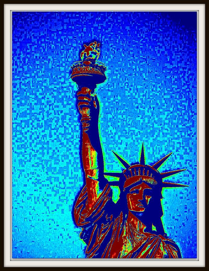 Butter Fly Photograph - Statue Of Liberty-5 by Anand Swaroop Manchiraju