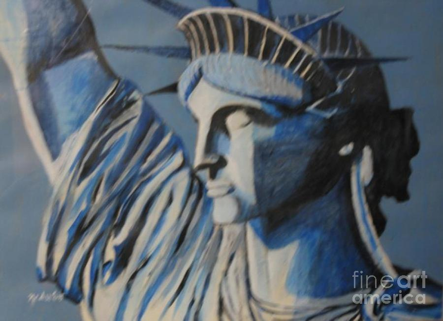 Art For Sale Painting - Statue Of Liberty by Nedunseralathan R