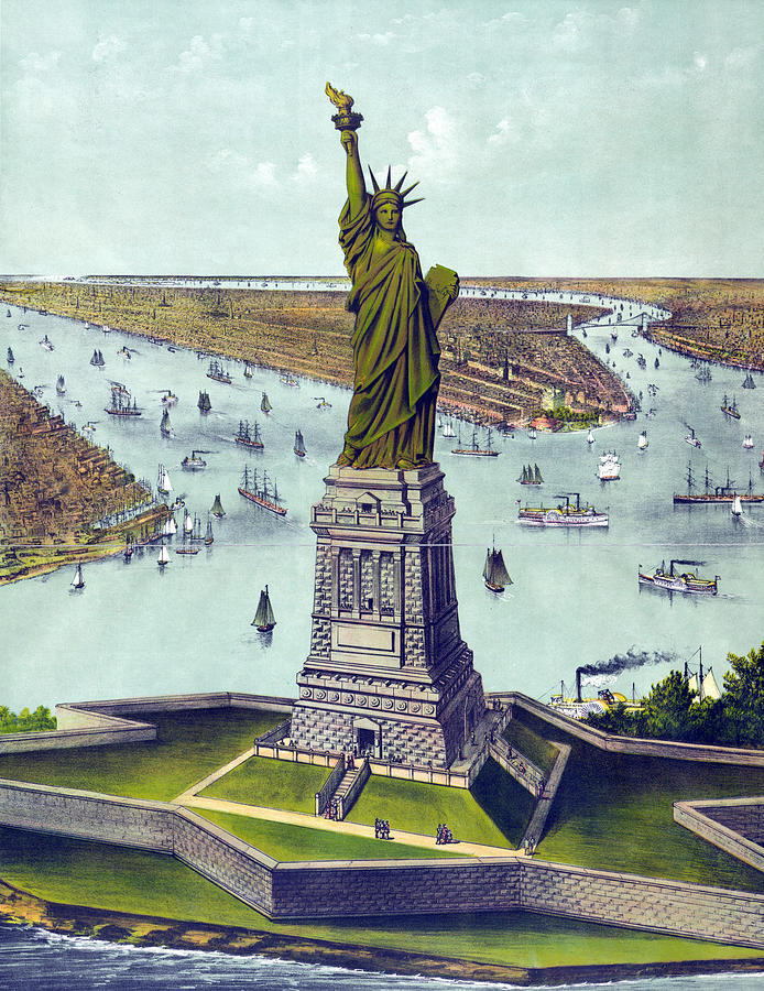 1880s Photograph - Statue Of Liberty. The Great Bartholdi by Everett