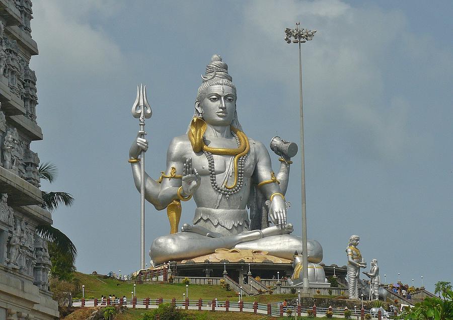Panasonic Photograph - Statue of Lord Shiva at Murudeshwara by Sandeep Gangadharan
