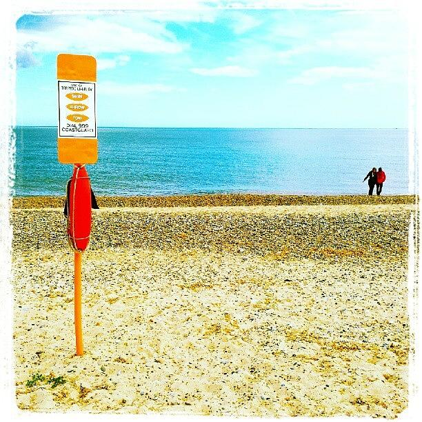 Stones Photograph - Stay Safe On The Beach #beach #sand by Invisible Man