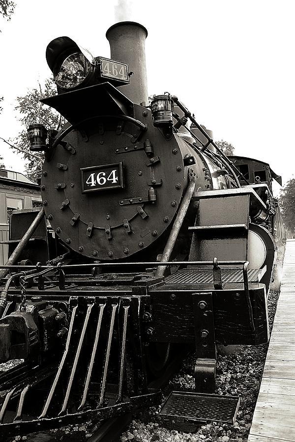 Train Photograph - Steam Engine 464 by Scott Hovind