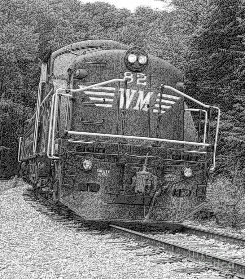 Train Digital Art - Steam Engine Eighty Two by Denise Jenks